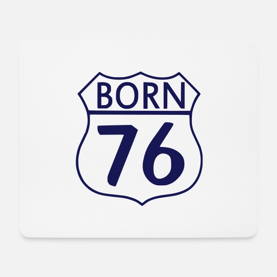 1976 Mousepads  - Born 1976 (ID: 005001) - Mousepad Weiß