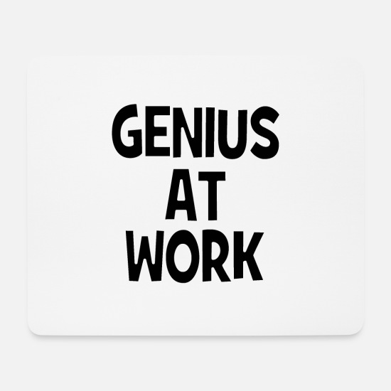 Workspace Mouse Pads - Genius at Work - genius at work - Mouse Pad white