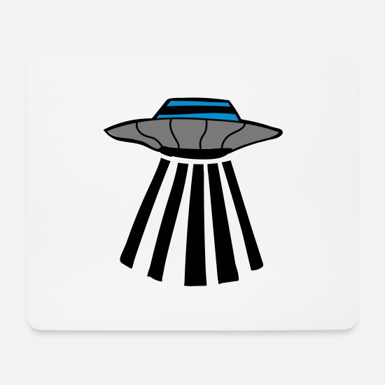 Space Mousepads  - Ufo - Mousepad Weiß