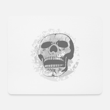 Grey Grey Skull - Mouse Pad