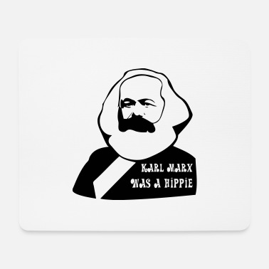 karl marx was a hippie - Mousepad