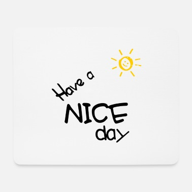 Easy Have a nice day - mountain panorama with the smiling sun - Mouse Pad