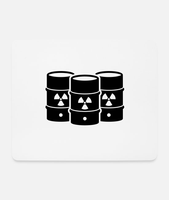 Enviromental Mouse Pads - nuclear waste - Mouse Pad white