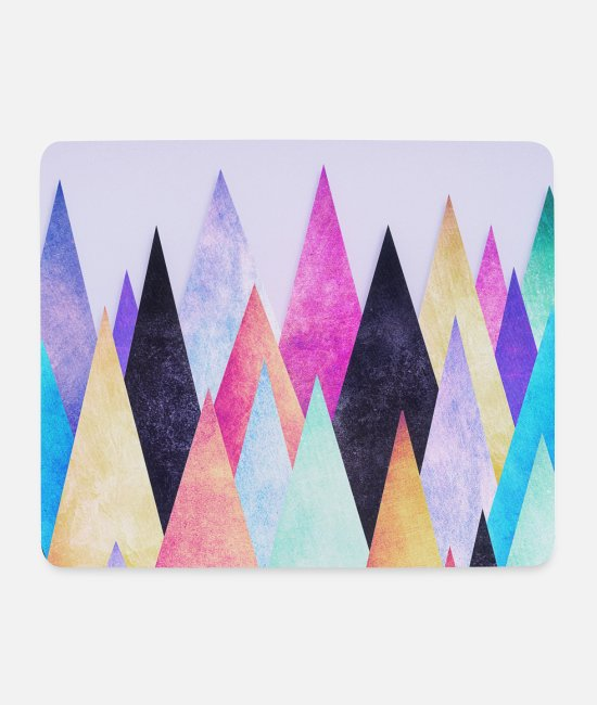Office Mouse Pads - Hipster triangles (geometry) Abstract Mountains - Mouse Pad white