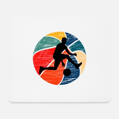 Ball Basketball in retro colors - Mouse Pad
