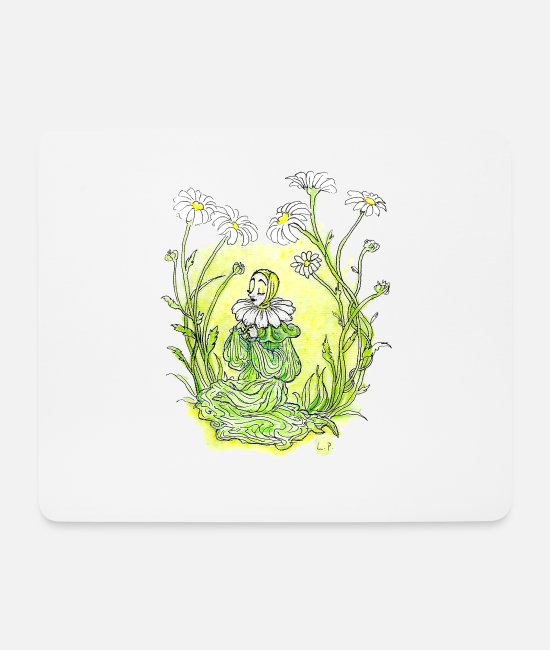 Heart Mouse Pads - Anemone - Mouse Pad white