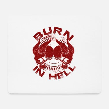 Purgatory Burn in hell costume skull devil demon - Mouse Pad