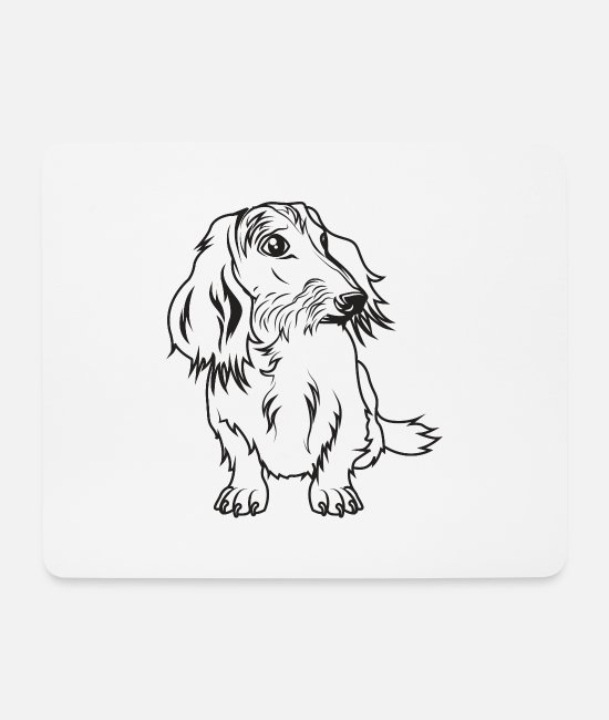 Dog Owner Mouse Pads - Wire-haired dachshund - Mouse Pad white