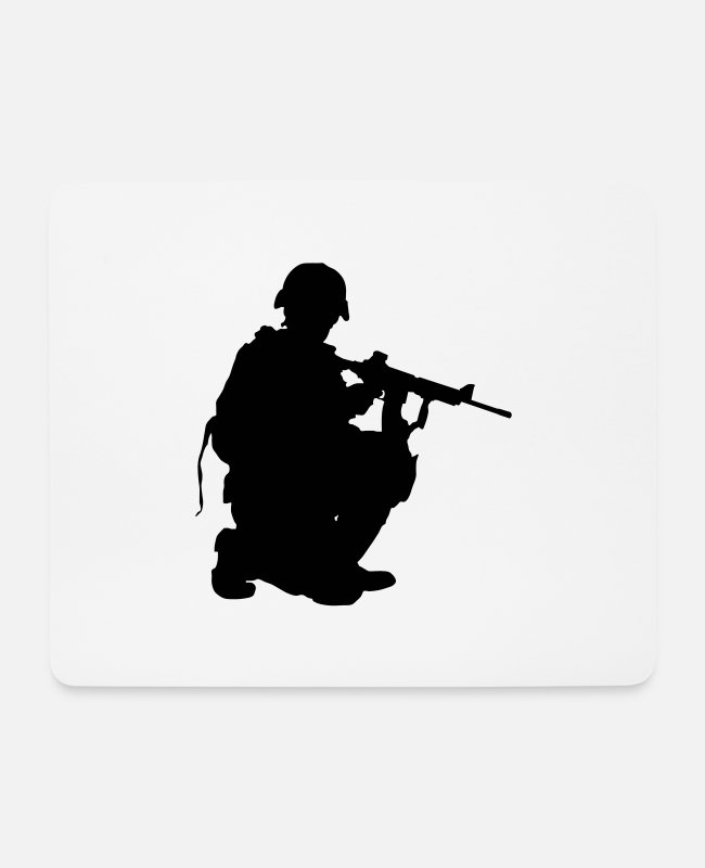 Army Mouse Pads - Special Forces - Mouse Pad white