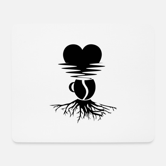 Love Mouse Pads - Coffee as an energy source for love - Mouse Pad white
