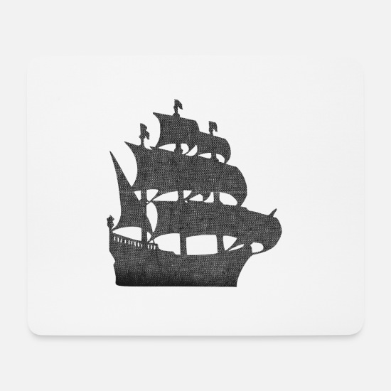 Gift Idea Mouse Pads - sailing ship pirate sailing sail mast buccaneers - Mouse Pad white