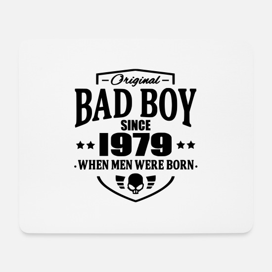 Bad Boy Mouse Pads - Bad Boy Since 1979 - Mouse Pad white