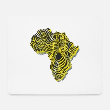 Symbol Africa in zebra camouflage - Mouse Pad