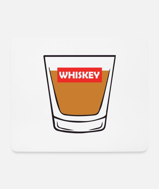 Alcohol Mouse Pads - Vodka shot - Mouse Pad white