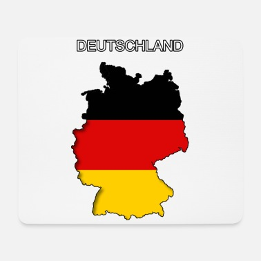 Deutschland Flagge Umriss Germania Germany - Mousepad