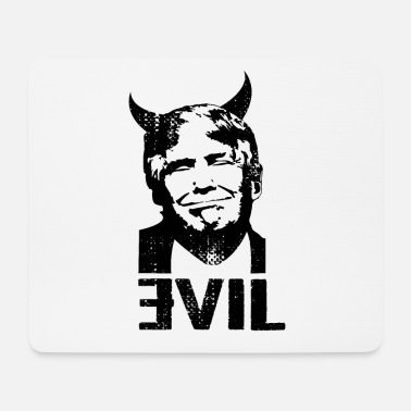 Demokrat Anti Trump USA Clown Devil 45 Gift - Mousepad (bredformat)