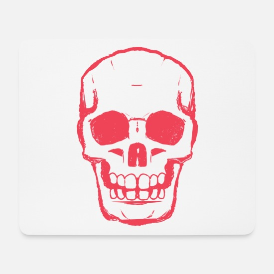 Pirate Mouse Pads - RED SKULL - RED DEAD SKULL - Mouse Pad white