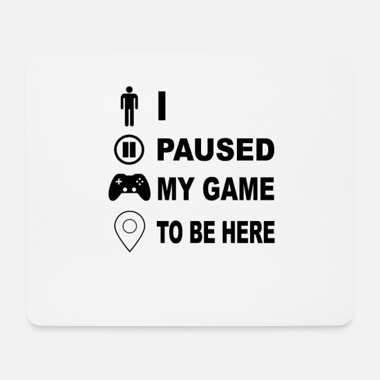 Birthday Mouse Pads - Gamer gamers console PC controller gift idea - Mouse Pad white