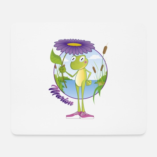 Frog Mouse Pads - Marion Grenouille - Mouse Pad white
