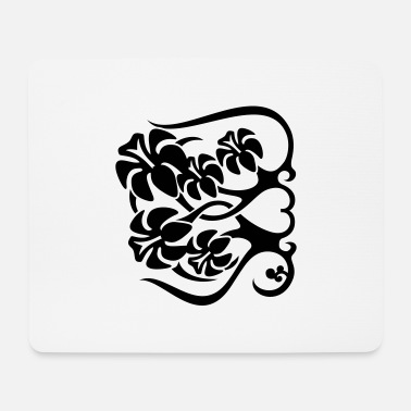 Long Underwear Flower Fence - Mouse Pad