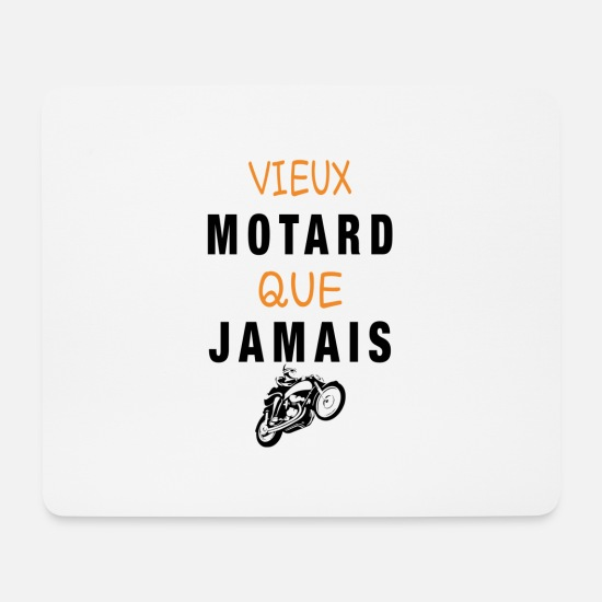 Question Mouse Pads - Old biker than ever - Mouse Pad white