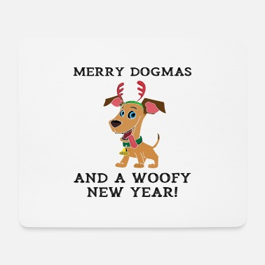 Woofy Merry Dogmas And A Woofy New Year Cute Dog Owner - Mouse Pad