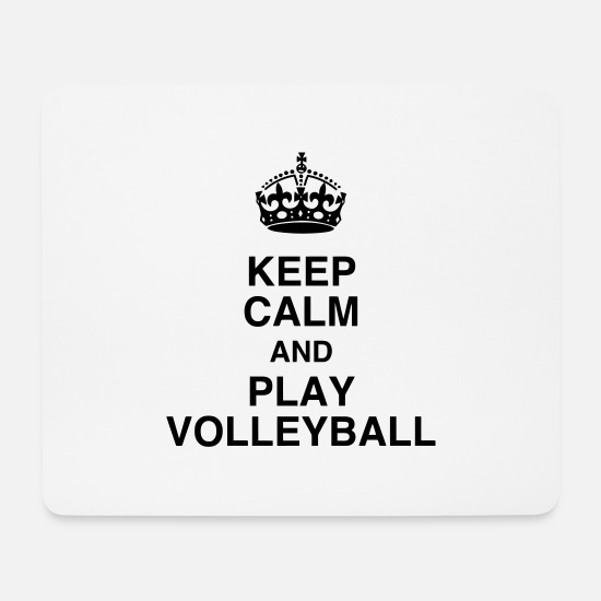 Play Mouse Pads - Volleyball - Volley Ball - Volley-Ball - Sport - Mouse Pad white