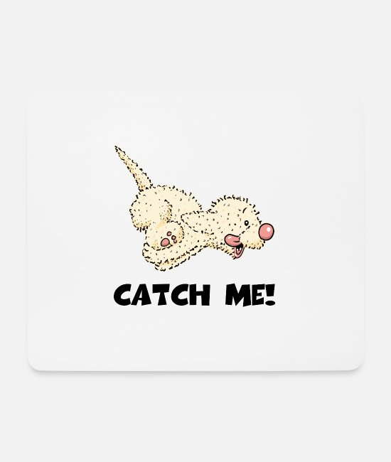 Dog Owner Mouse Pads - catch1 3 - Mouse Pad white