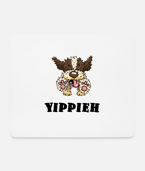 Dog Owner Mouse Pads - jump2 1 - Mouse Pad white