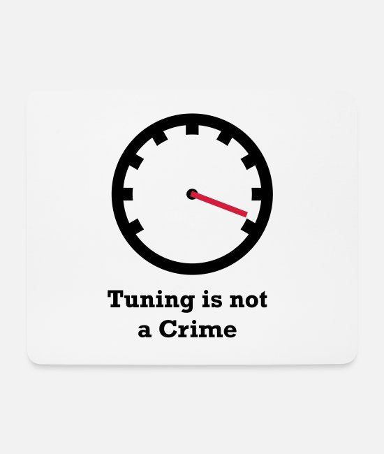 Ps Mouse Pads - Tuning is not a Crime - Mouse Pad white