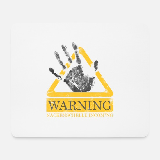 Birthday Mouse Pads - Warning neck band Incoming - Mouse Pad white