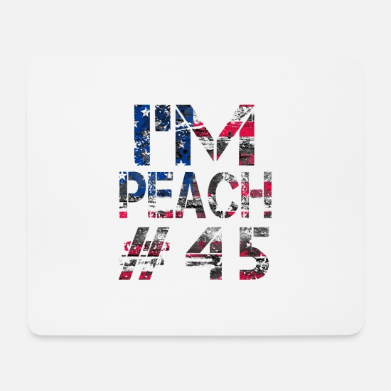 Usa Mouse Pads - ImPeach # 45 Impeachment - Mouse Pad white