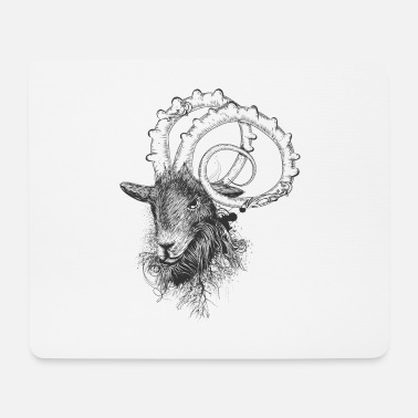 Antler impressive ram with magnificent horns - Mouse Pad