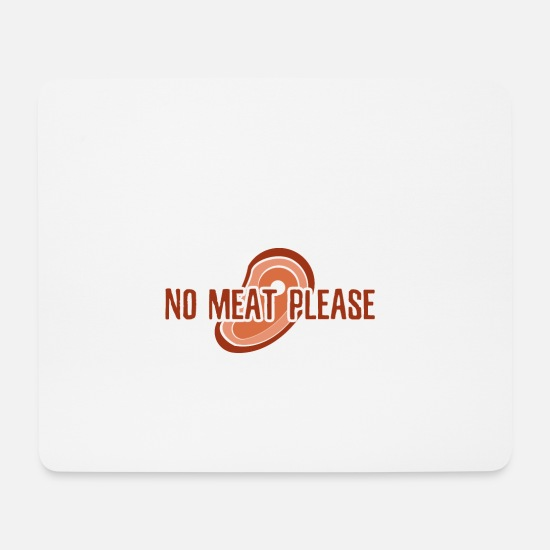 Fruit Mouse Pads - Vegan no meat - vegan no meat - Mouse Pad white