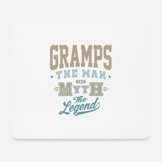 Father's Day Mouse Pads - Gramps The Man - Mouse Pad white