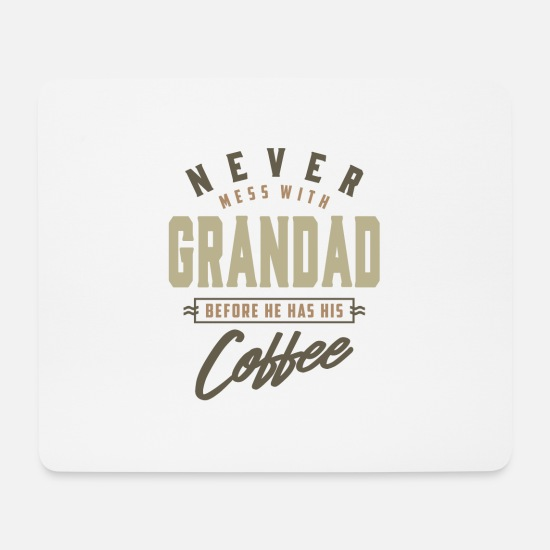 Father's Day Mouse Pads - Grandad Coffee - Mouse Pad white