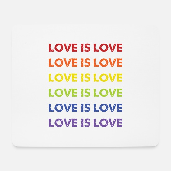 Love Mousepads  - love is love - Mousepad Weiß