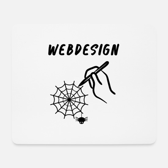 Birthday Mouse Pads - Web Design - Mouse Pad white