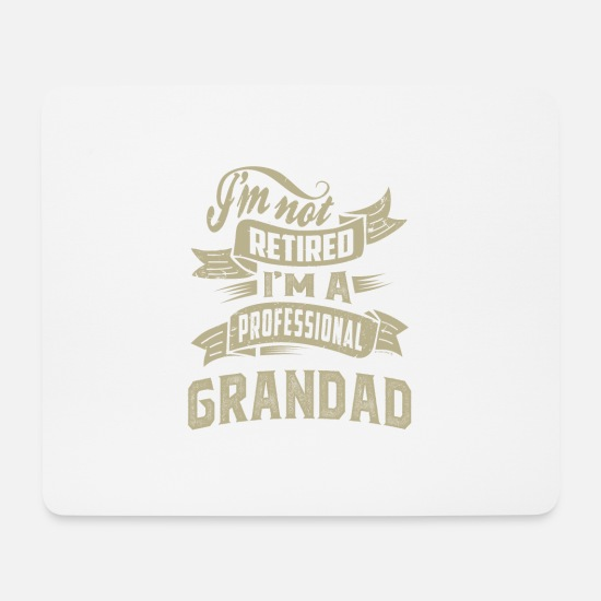 Father's Day Mouse Pads - Professional Grandad - Mouse Pad white