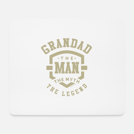Grandad Mouse Pads - Grandad The Myth - Mouse Pad white