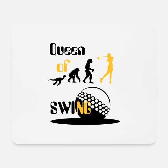 Golf Mouse Pads - Evolution Women's Golf Queen of Swing. - Mouse Pad white