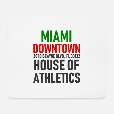 Ville Centre-ville de Miami - House of Athletics - Floride - Tapis de souris (format paysage)