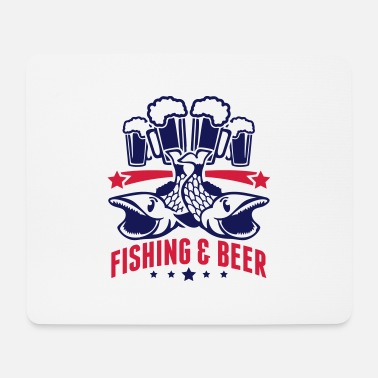 Carpe Poisson fishing_and_beer_yq2 - Tapis de souris