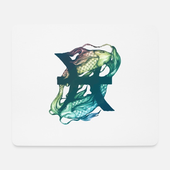 Zodiac Mouse Pads - Pisces - Mouse Pad white