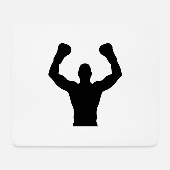 Boxer Mouse Pads - winner_boxing_lt1 - Mouse Pad white