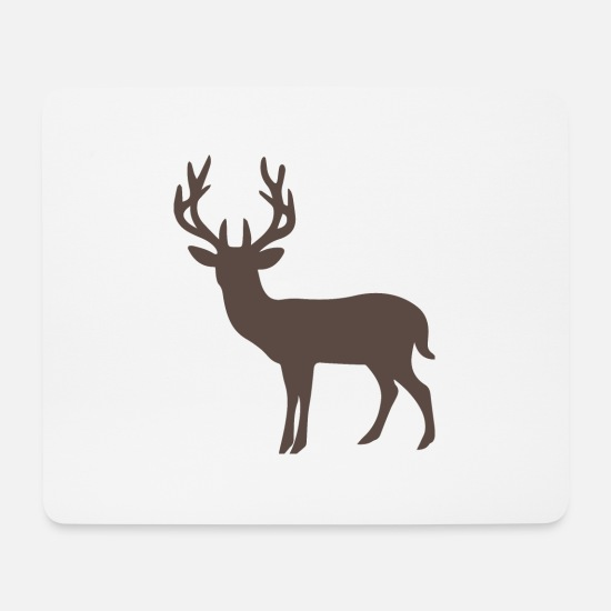 Black Forest Mouse Pads - black forest deer black forest antlers hunting J - Mouse Pad white