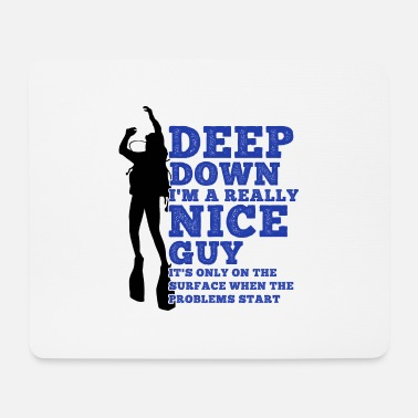 Dirty Diver Funny saying Diving Dirty Gift - Mouse Pad