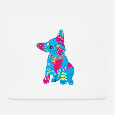 French bulldog colorful neon - Mouse Pad