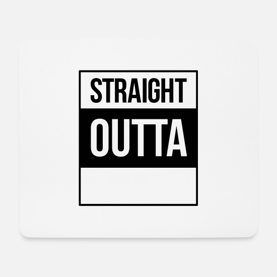 Compton Mouse Pads - straight outta - Mouse Pad white