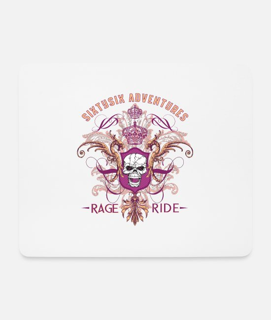 Mountains Mouse Pads - 66 Adventures - Rage Ride - Mouse Pad white